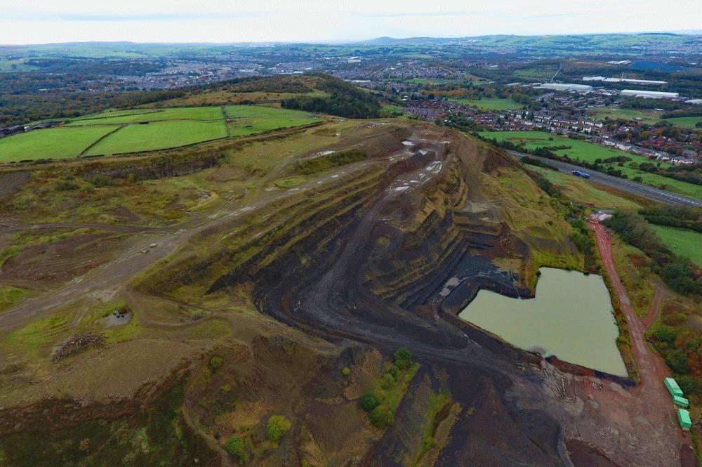 How to restore an existing quarry